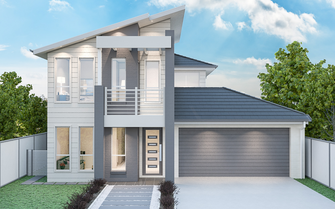Briarwood Facade two storey house design New Home Design