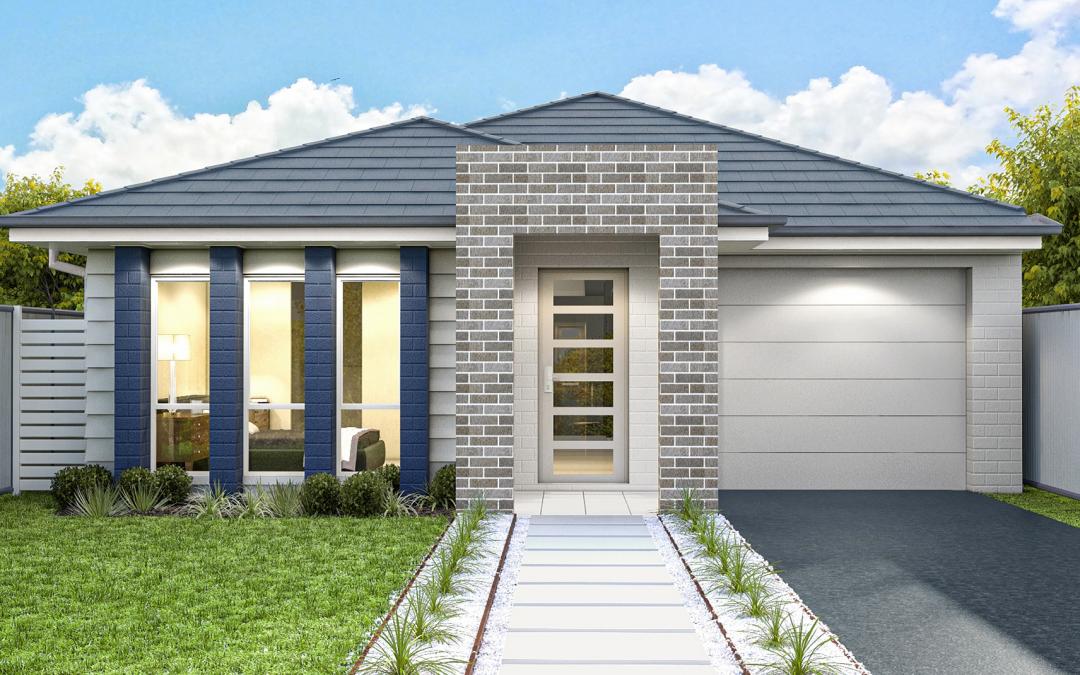 Bowery-facade-single-storey-single-garage Best Home Builders