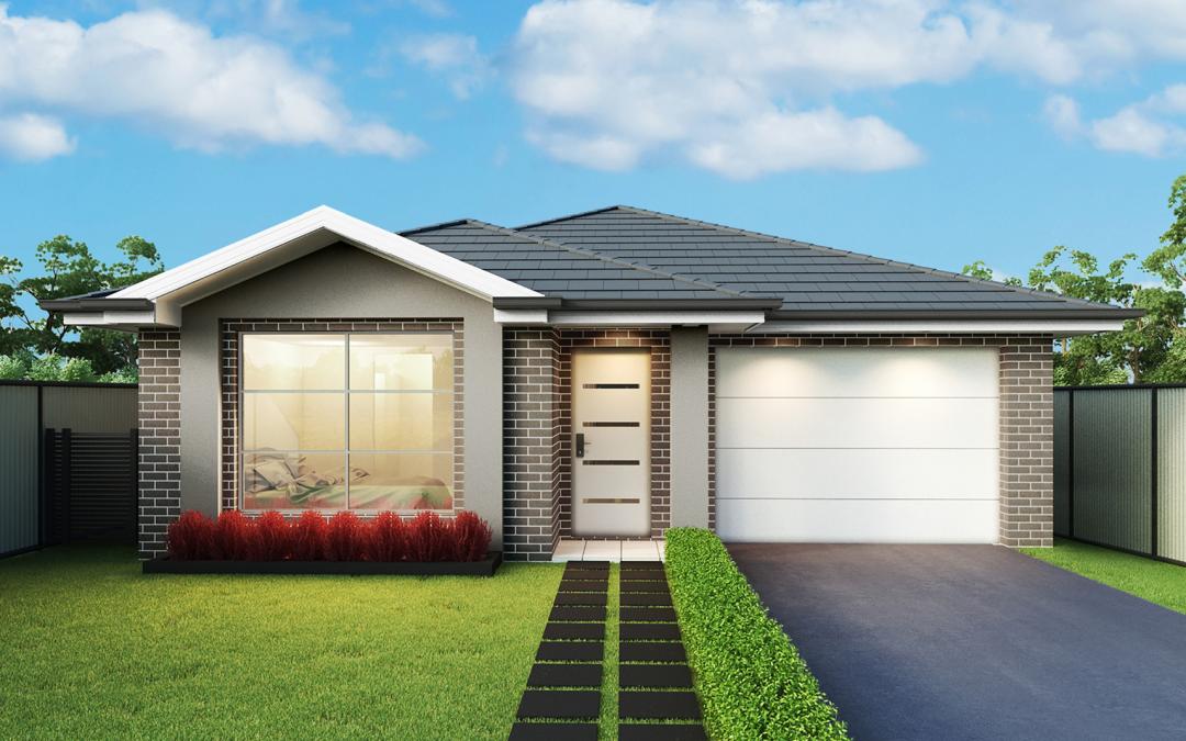 Hempstead-single-storey-facade-single-garage Home Builders