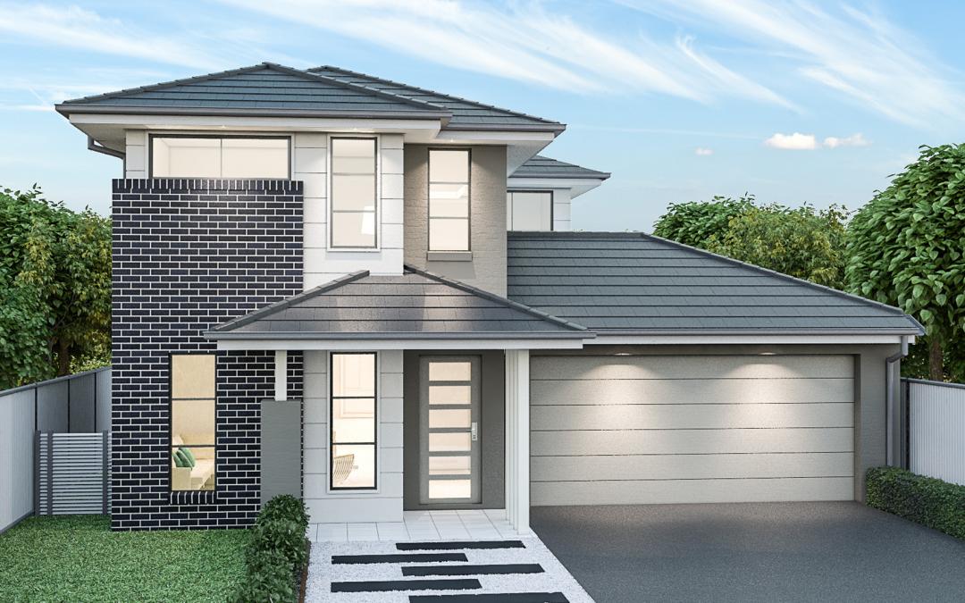 Lexington Facade double storey house design Best Home Builders