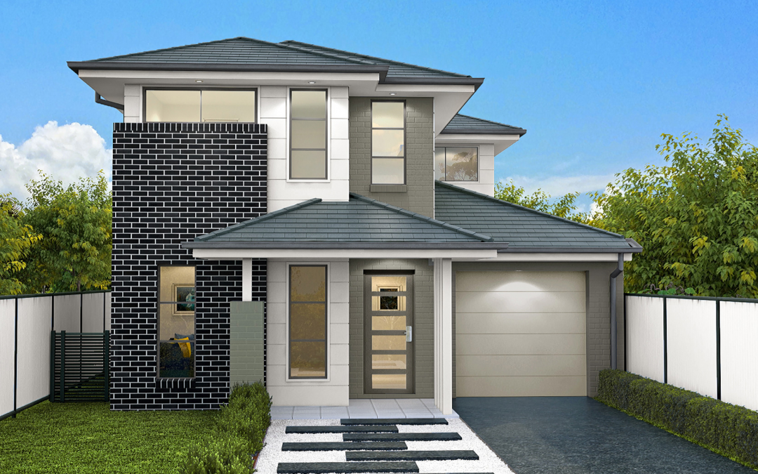 Lexington-single-garage-double-storey-facade-design Building Your Own home