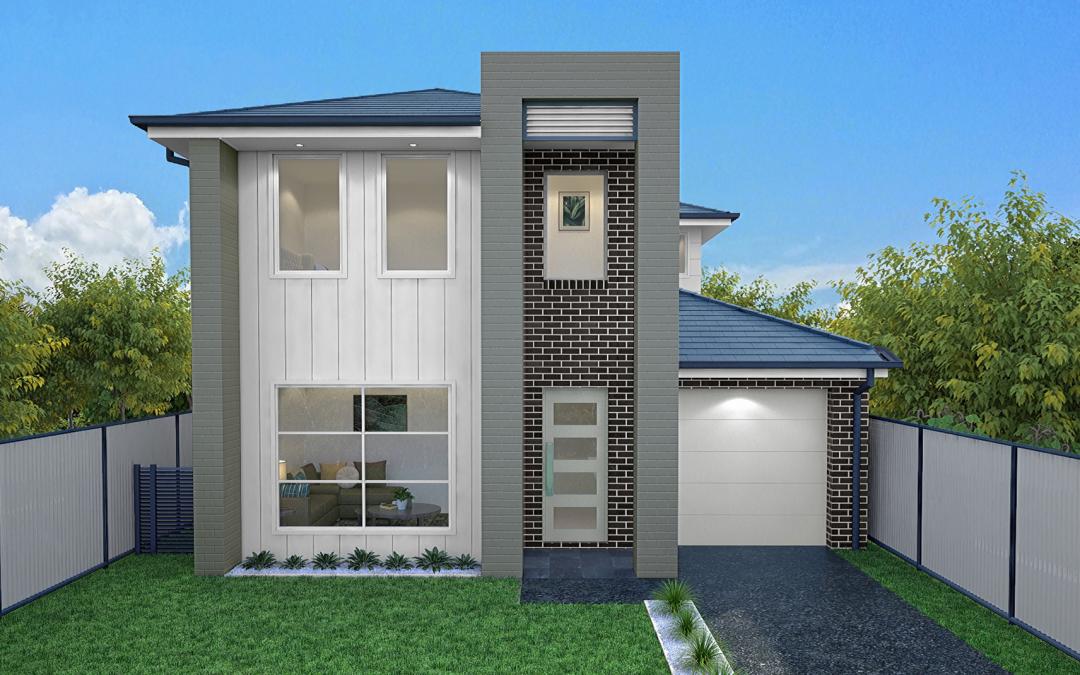 Montgomery-single-garage-double-storey-facade-design