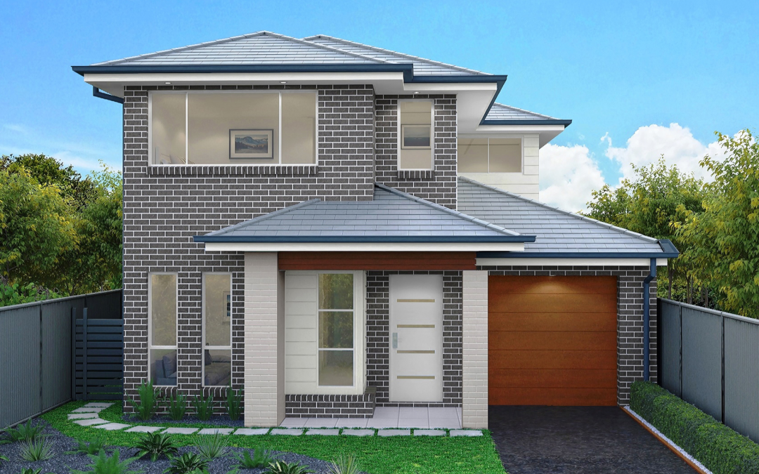 Ontario-single-garage-double-storey-facade-design Cheap Homes To Build