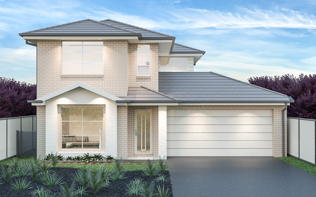 Syracuse Facade double storey home design Display Homes Sydney