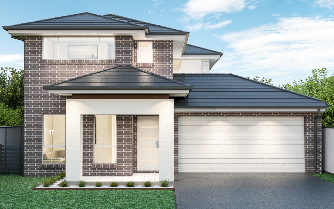 Tall Oak Render double storey home design Cheap Homes To Build